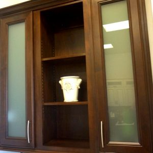 Obscured Glass Cabinetry