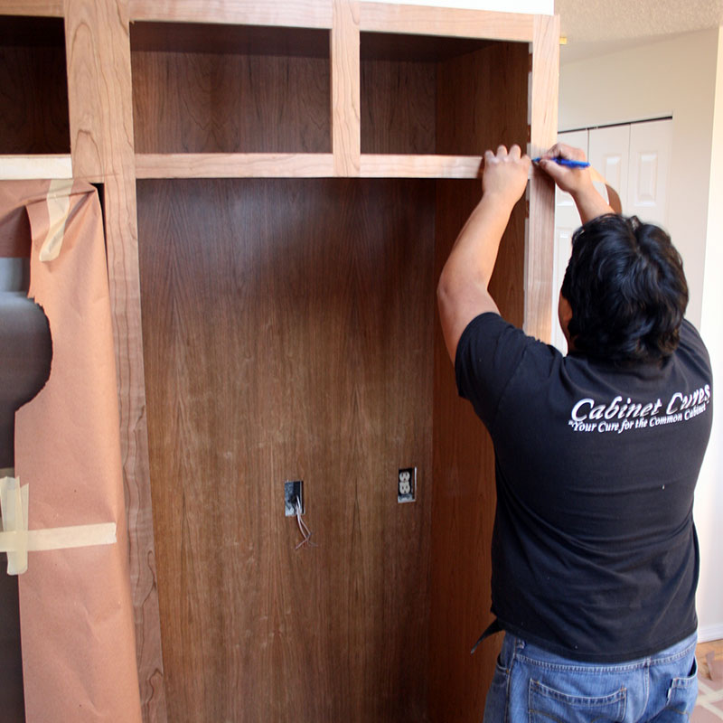 cabinet refacing removing old doors