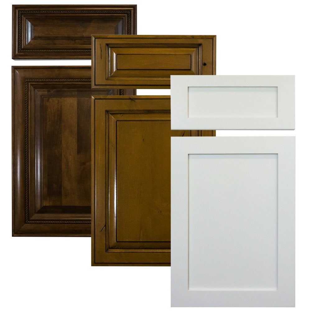 cabinet doors in a variety of finishes and styles